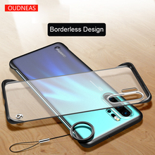 OUDNEAS for Huawei p30 pro case Frameless Design Transparent Phone Coque huawei cases with Strap p20