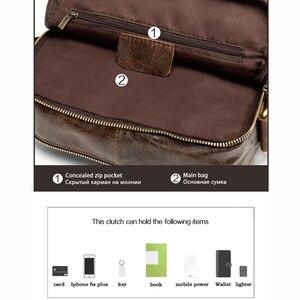 Image 4 - MVA hommes en cuir véritable sac sacs à bandoulière pour hommes sac de messager hommes en cuir de mode hommes sacs à bandoulière hommes sacs à main 1121