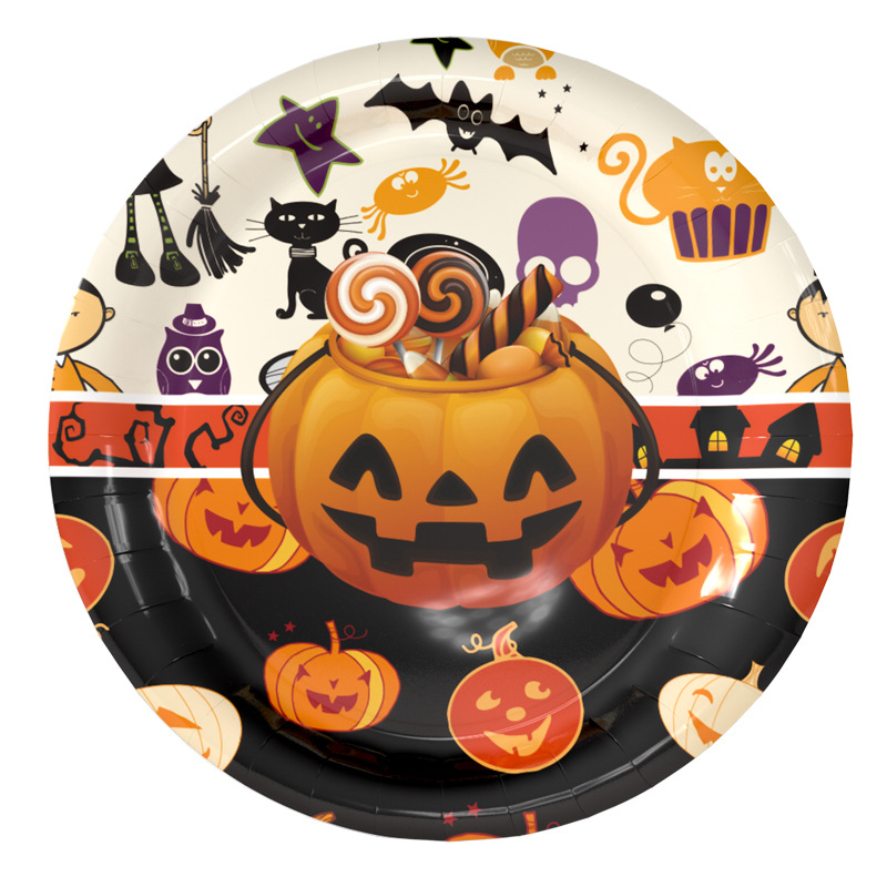 halloween party supplies paper plates cups napkins hats home halloweens decorative kids birthday baby shower party supplies in disposable party tableware