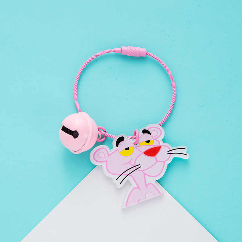Bonito Dos Desenhos Animados Doraemon Rosa Impertinente Leopardo Chaveiros para As Mulheres Menina Saco Mochila Carteira Telefone Encantos Decoração Casais Jóias