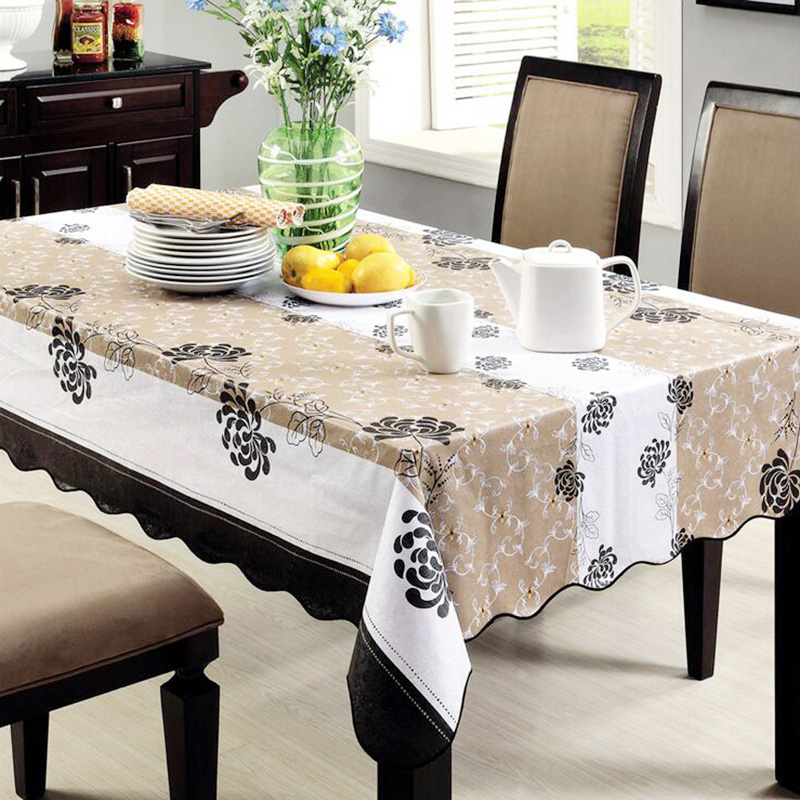 online shop pvc tablecloth waterproof plastic disposable round table wipe clean pvc vinyl dining kitchen table cover sizes aliexpress mobile. beautiful ideas. Home Design Ideas