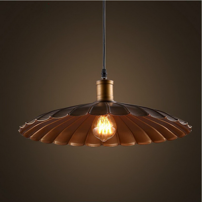 Modern Retro Industrial Contracted Creative Iron Corridor Umbrella Pendant Light Coffee Shop Bar Decoration Light Free Shipping nordic post modern denmark creative chandelier art crown bar coffee shop decoration light dining lights