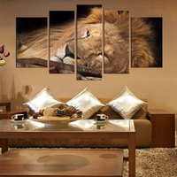 New Sale Leisurely Lion Beautiful Peacock Cool Poster Wall Art Animals For Home Decor Oil Painting