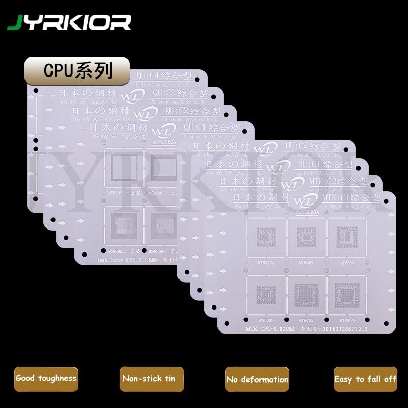 Jyrkior For Qualcomm/Hisilicon/MTK/MT/Hi QCOM MSM MSM7225A MT6572A MSM8928 CPU Series BGA Reballing Stencil Plant Tin Template