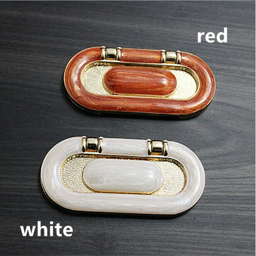 64mm modern fashion ivory white unfold install furniture handles red white drawer shoe cabinet pull knob handles 2.5 resin jade mikado feeder 9109 8 золото с лопаткой