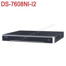 Free shipping DS-7608NI-I2 English version 4k NVR 8ch with 2 SATA ports, 12MP embedded NVR