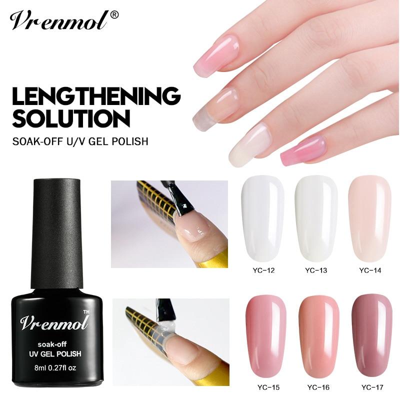 Gel Nail Polish French Manicure: Vrenmol Polygel 6 Colors Extension Builder Gel Polish