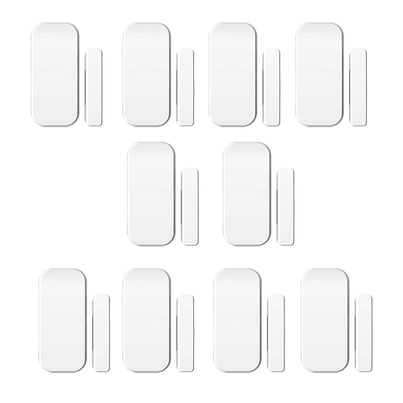 10pcs/lot 433MHz  Sensor Intelligent  Wireless Door Magnetic Sensor  Door Gap Window Sensors Detectors For our Alarm System thyssen parts leveling sensor yg 39g1k door zone switch leveling photoelectric sensors
