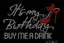 Buy birthday rhinestone iron on transfers and get free shipping on  AliExpress.com 2e7cebbe2956