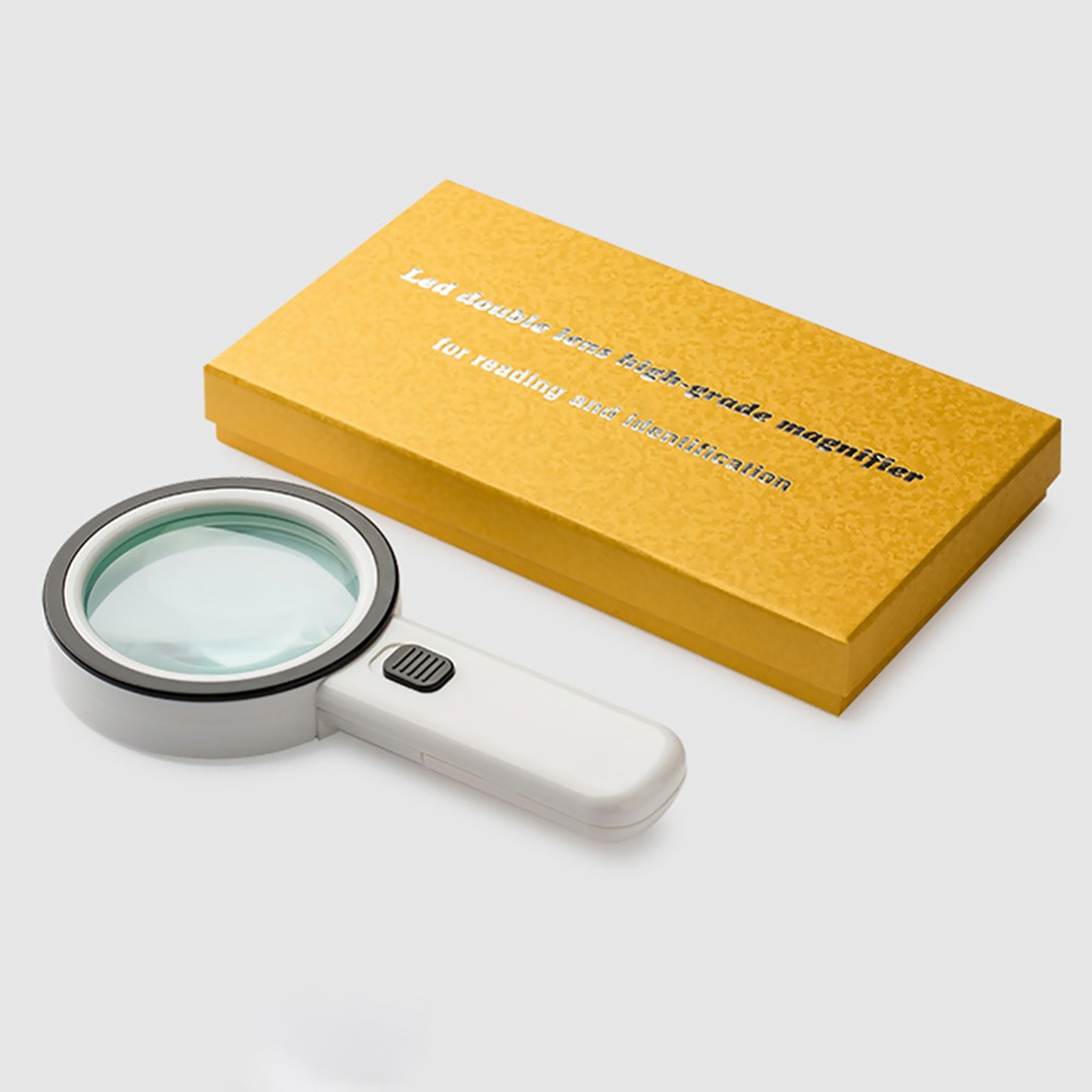 16fe521ad5f8 US $12.89 30% OFF|Portable Magnifying Glass 30X With LED Light High  Definition Hand held Lamp Screen Magnifier Loupe Glasses For Repairs  Reading-in ...