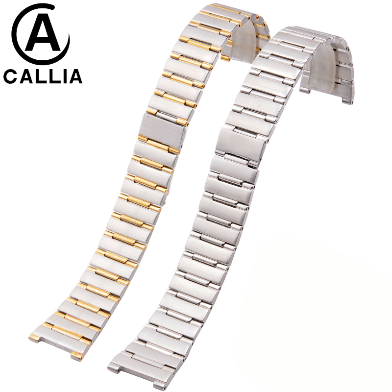 New High Quality Stainless Steel Watchband Men And Women metal watch bracelets Watch Bracelet For CONSTELLATION Watch Strap new 16mm 20mm silver gold metal stainless steel watchband bands strap bracelets for brands watches men high quality accessories