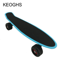 22inch Adult Children Skateboard Teenagers Fish Board PU Grinding Wheels Outdoor Sports Bodybuilding Single Headed