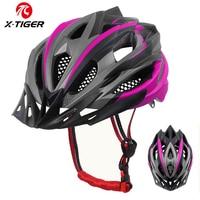 X-TIGER Frau Radfahren Helm Integral-form Radfahren Berg Fahrrad Helm Ultraleicht Fahrrad Helm EPS + PC Abdeckung MTB Bike helm