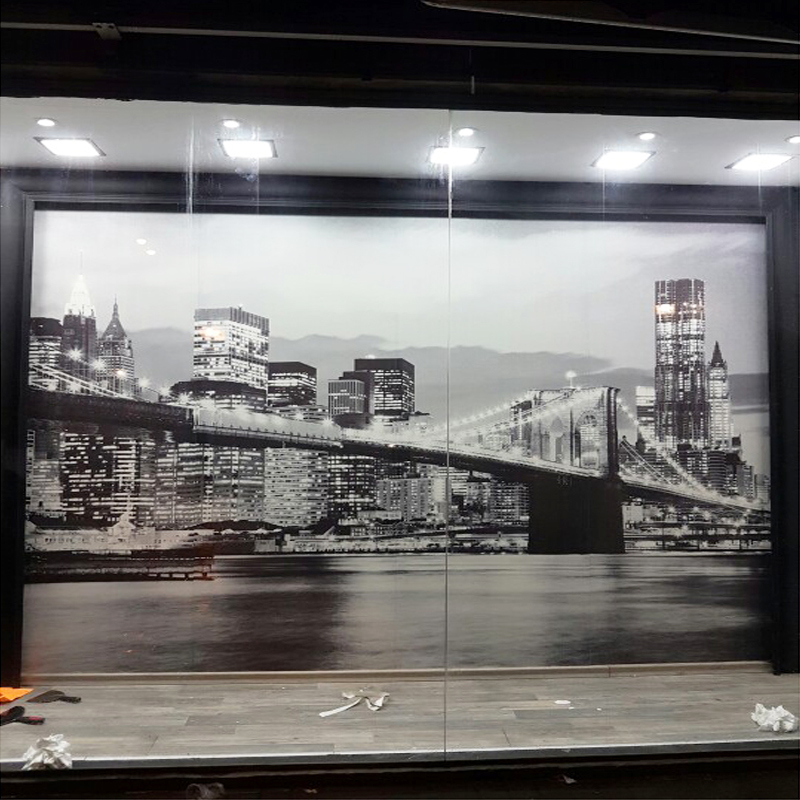 Wallpaper stone picture more detailed picture about for Black and white new york mural wallpaper
