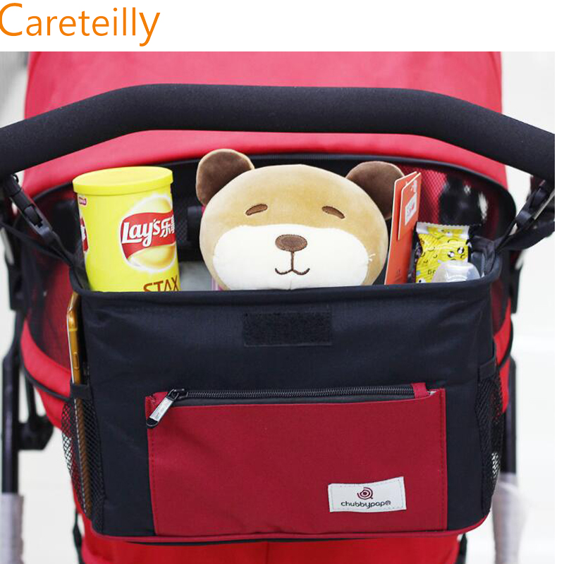 Universal Baby Jogger Stroller Organizer Bag . Extra Storage Space for Organize the Baby Accessories and Your Phones