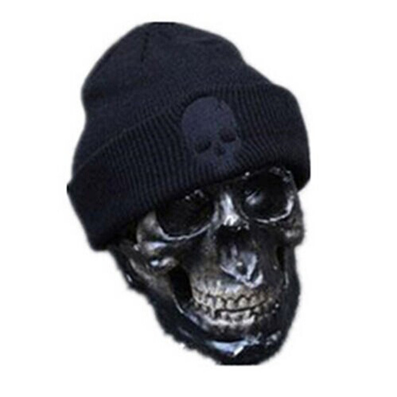 Black Women Winter Skull Men Knit Beanie Reversible Baggy Wool Cap Warm Unisex Hat Hot Sale High Quality hot sale unisex winter plicate baggy beanie knit crochet ski hat cap
