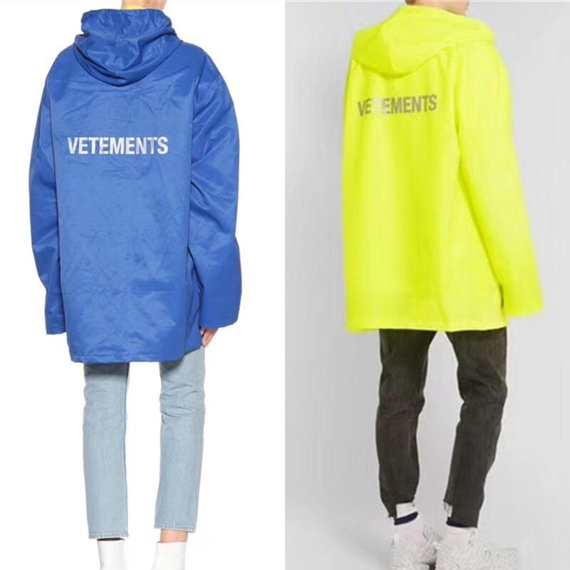 1 3 2018 Survêtement Manteaux Vetements Jaune Imperméable Bleu Hommes Femmes Veste Vestes Surdimensionné Coupe vent 2 Nouveau 4 5 Dhl ulFTKJc31