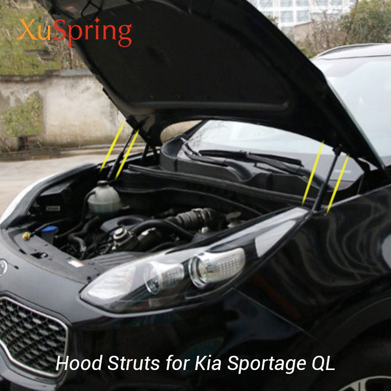 For Kia Sportage 2019 2017 2016 QL Front Hood Engine Cover Supporting Hydraulic Rod Strut Spring Shock Bars Bracket Car Styling car window curtains legal