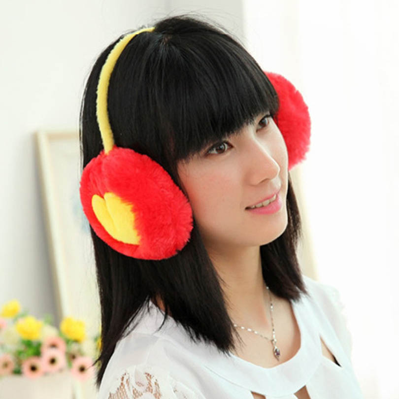 2017 New Cute cotton Earmuffs Warm Winter thick Earmuffs For Women Girls Ear Cache Warmth Winter soft Earmuffs