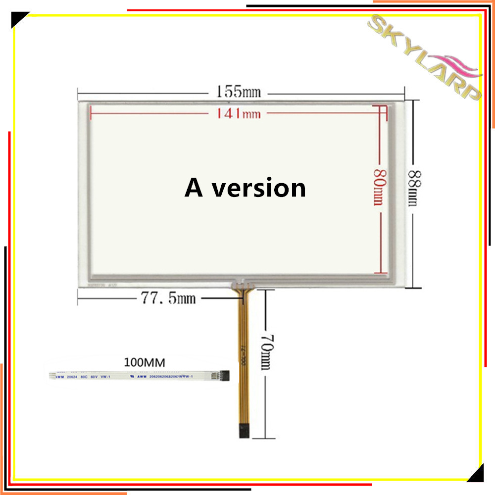 Original 6,2 zoll 4 draht Resistiven Touch Screen Panel Für Auto ...