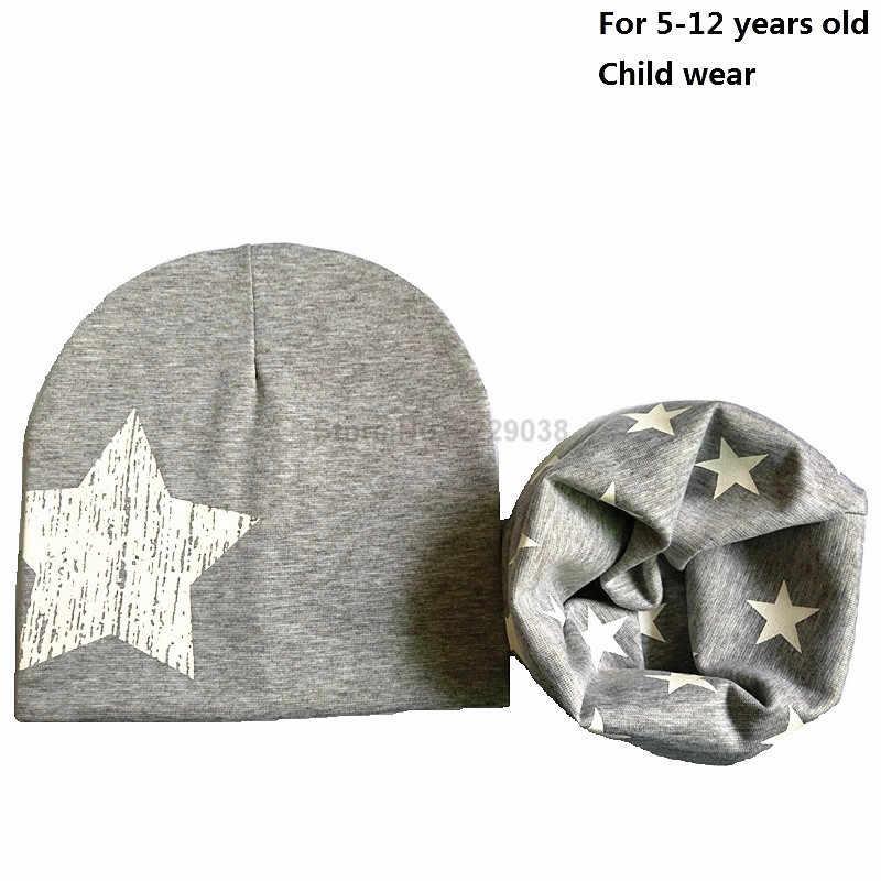 สำหรับ 1-12 ปีเด็กหมวกเด็กหญิงฤดูใบไม้ร่วงฤดูหนาวหมวกผ้าฝ้ายหมวกชุดเด็ก Beanies หมวกอุปกรณ์เสริม beanies