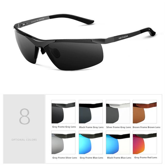 Alta Qualidade de Alumínio E Magnésio Óculos Polarizados Óculos de Sol dos homens Para O Homem de Condução Anti-reflexo óculos de Sol Óculos de Motorista do Sexo Masculino Marca VEIYHDIA