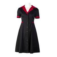 CandowLook Women Autumn Winter A Line Sexy Slim Club Party Clothes Short Sleeve Cotton Nurse Suits