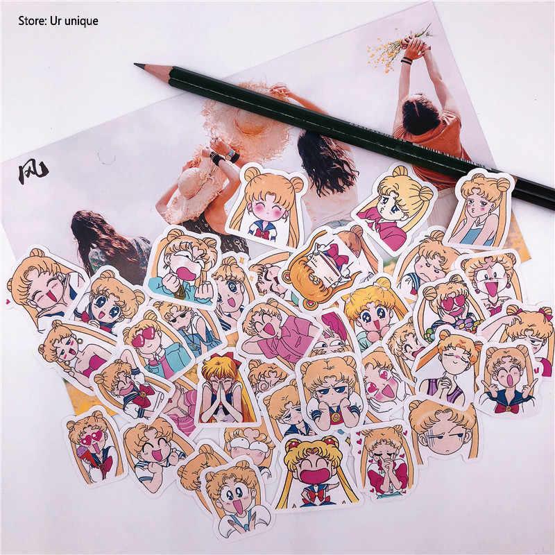 42 قطعة اليابانية الكرتون بحار القمر للهاتف سيارة التسمية ملصقات القرطاسية الزخرفية سكرابوكينغ DIY ألبوم اليوميات لعبة ملصق