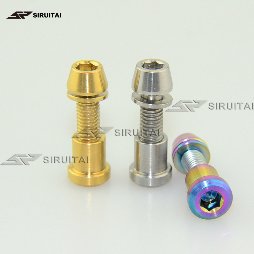 Titanium bolt stud bolt + nut Ti bolt M5 x16mmM5x18mm <font><b>M5x20mm</b></font> for 3T carbon fiber handlebar front fork fixing screw 2PCS image