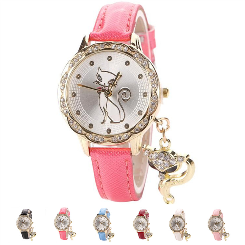 Womens Quartz font b Watches b font 1 PC Luxury Diamond Analog Wrist font b Watch