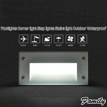 3 Вт Холодный Белый LED рампы угол света встроенный лестничные свет шаг огни открытый водонепроницаемый Бра фонд звездная ночь