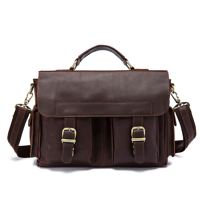 Men Bag Genuine Leather Briefcase Laptop Casual Tote Men's Business Messenger Bags Male Crossbody Shoulder High Quality Handbag hight quality ssr cts 7 kw 220v or 380v