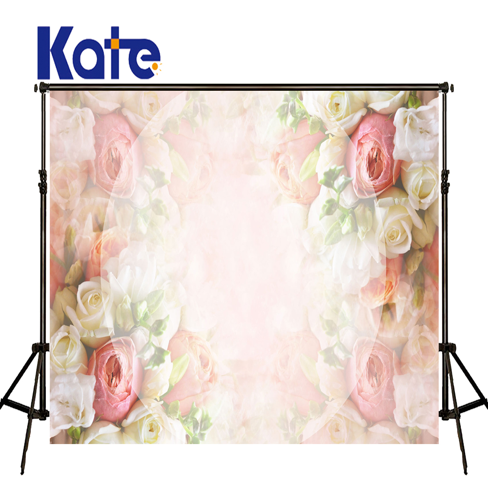 Kate Happy Mothers Day Photography Backdrops Love Flowers Wall Backdrops Large Size Seamless Photo  for Photos studio shoot 857 seamless nail wedding photo frame wall paintings hook the real invisible
