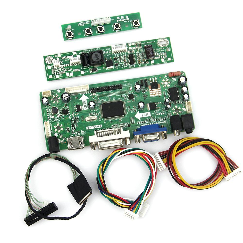 M.NT68676 LCD/LED Controller Driver Board(HDMI+VGA+DVI+Audio) For N154C6-L02 LP154WP 1440x900 LVDS Monitor Reuse Laptop