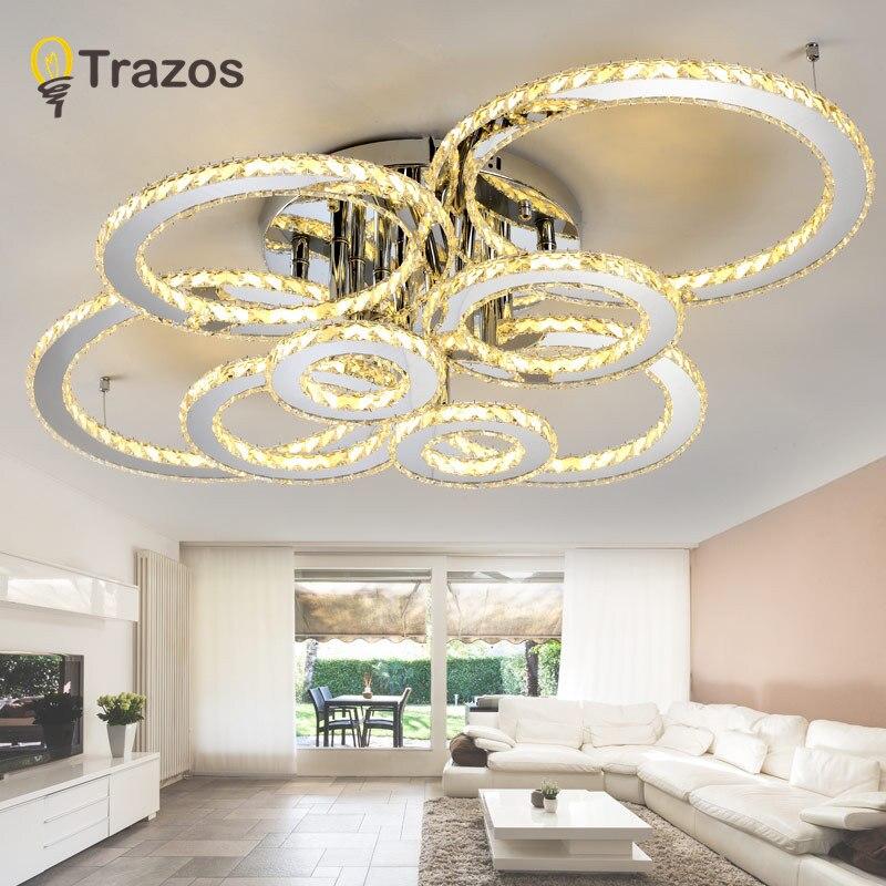 Lighting For The Living Room: Modern LED Crystal Ceiling Lights For Living Room