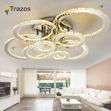 Modern Crystal LED Luces de Techo Para la Sala de luminarias para sala plafon Accesorio de La Lámpara de Techo Para El Dormitorio Lamparas De Techo