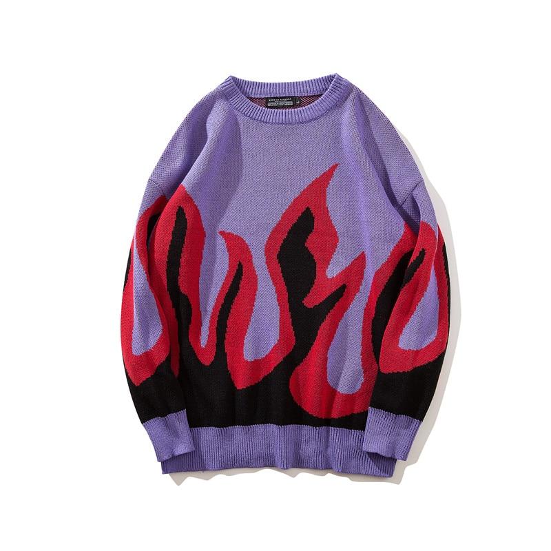 Dropwow GMANCL 2018 Mens Hip hop Streetwear Flame stitching color ... 1718d55e2