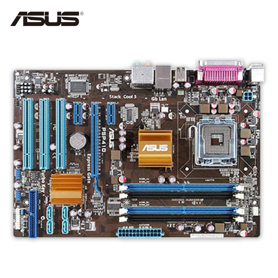 Asus P5P41D Desktop Motherboard G41 Socket LGA 775 DDR2 8G SATA2 USB2.0 ATX Second-hand High Quality материнская плата asus h81m r c si h81 socket 1150 2xddr3 2xsata3 1xpci e16x 2xusb3 0 d sub dvi vga glan matx