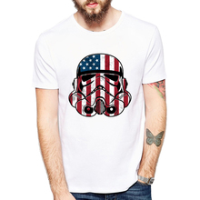 Fashion Star War Men's T-Shirts hip hop Patriot trooper America/Philippines t-shirt homme Cool Storm Trooper brand clothing