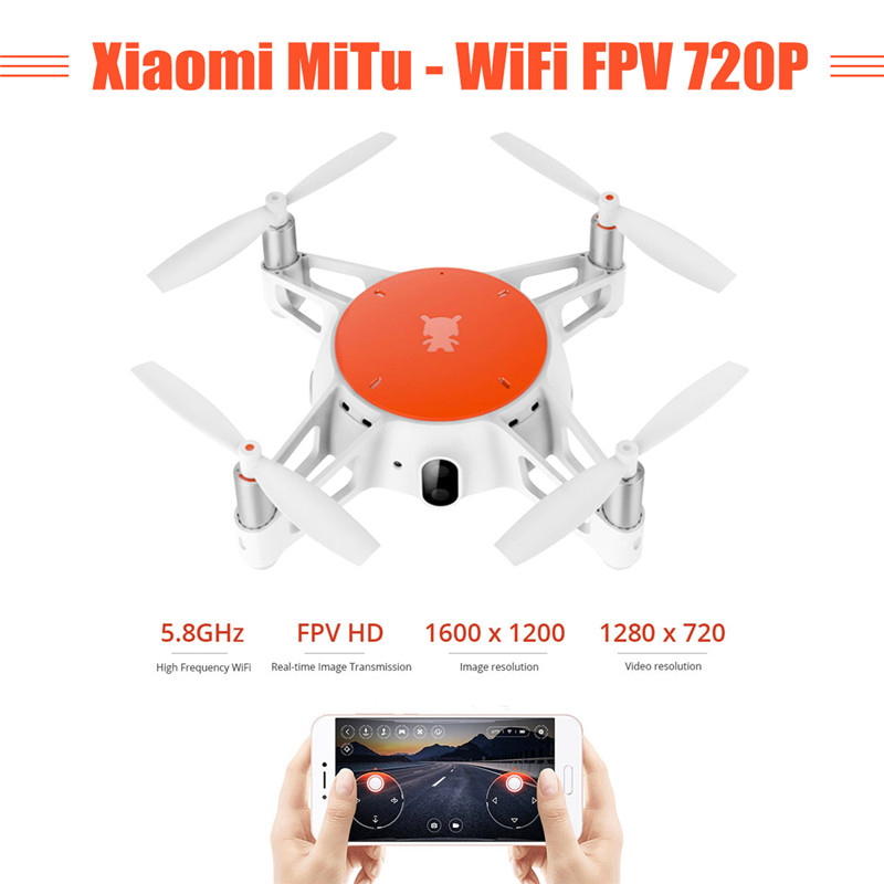 New Arrival Xiaomi MiTu WiFi FPV With 720P HD Camera Multi Machine Infrared Battle Mini RC Drone Quadcopter BNF Phone Control