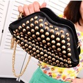 GUDANSEN Popular Rivet Crossbody Bag Lips Rivet-bag Women Shoulder Bags Lady Clutch with Chain Evening Party Handbag Purse