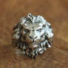 Linsion 925 Sterling Silver King Van Leeuw Ring Hoge Details Mens Biker Punk Ring TA109 Us Maat 7 ~ 15