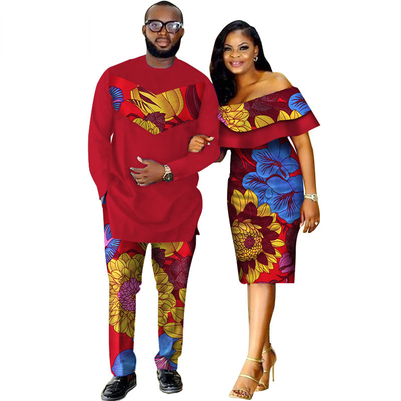 African-Dashiki-Print-Couple-Clothing-for-Lovers-Two-Piece-Set-Men-s-Suit-Plus-Women-s(2)