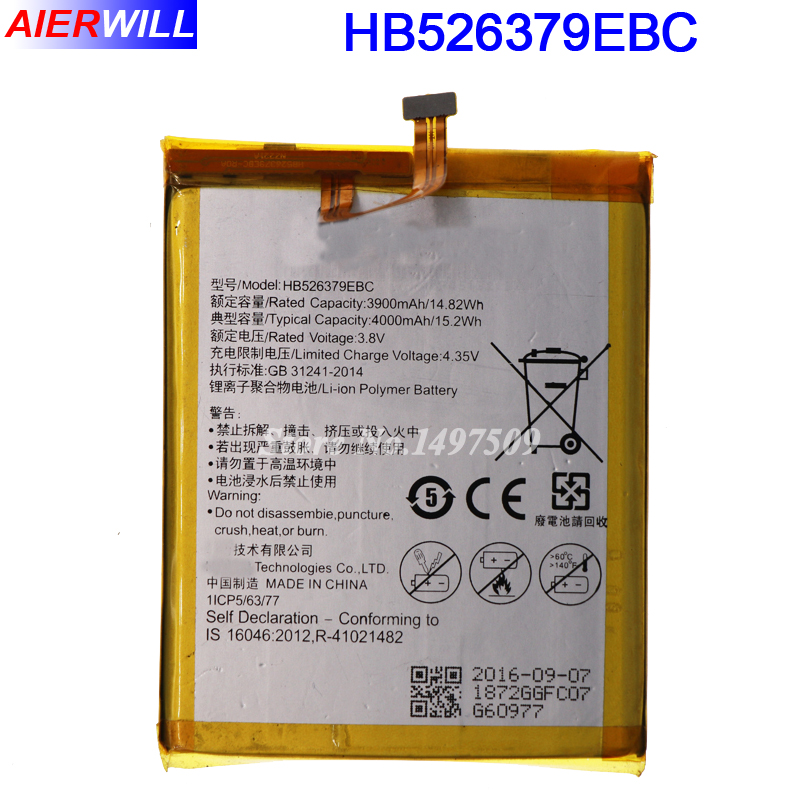 HB526379EBC Battery For Huawei Honor 4C Pro / Y6 PRO For Huawei Enjoy 5 TIT-AL00 CL10 Batterie Bateria Accumulator 4000mAh
