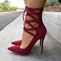 shofoo shoes.Free shipping, elegant red shoes, pointed toe pumps, noble women shoes. SIZE:34-45
