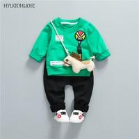 HYLKIDHUOSE 2018 Spring Children Clothes Sets Fashion Baby Girls Boys Suits Infant Cotton T Shirt+Pants High Quality Kids Suits