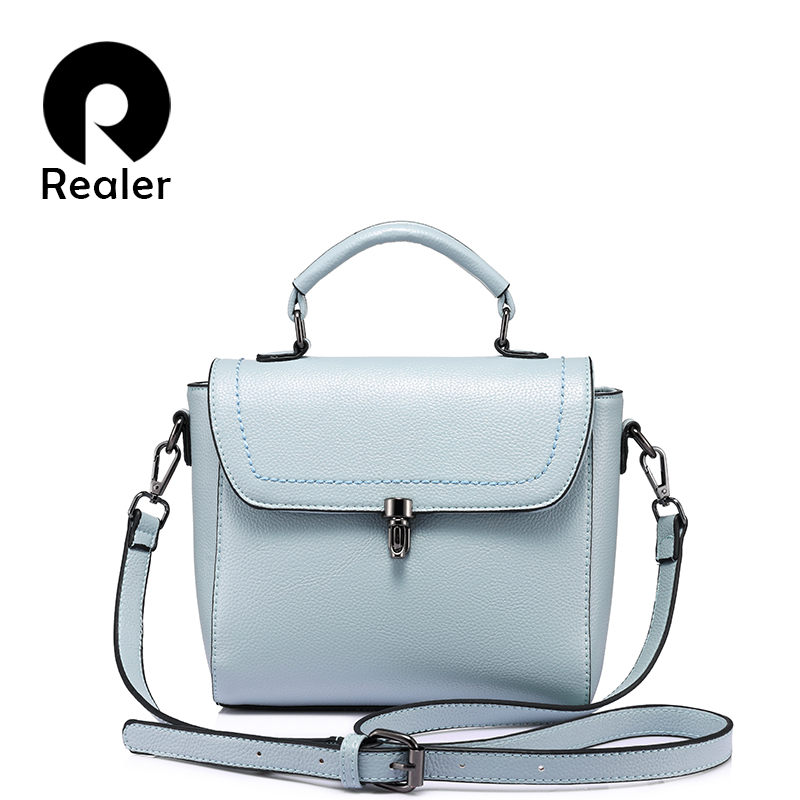 REALER women bag fashion women messenger bag female high quality shoulder crossbody bags ladies  designer handbag famous brands 2018 brand designer women messenger bags crossbody soft leather shoulder bag high quality fashion women bag luxury handbag l8 53