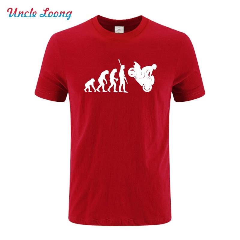 Fashion Human Evolution Motorcycle 2018 Printed T Shirt Men Wome Hip Hop short sleeve T-shirts Fashion Cotton casual T Shirts