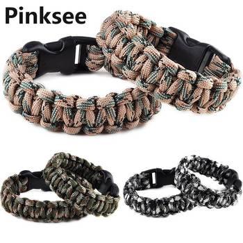 1PC Retail Cobra PARACORD BRACELETS KIT Military Emergency Survival Bracelet Men Charm Bracelets Unisex 9 Colors Браслет
