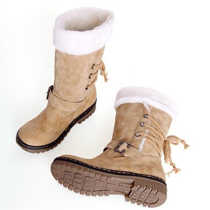 02 Invierno 05 Botas Zapatos Nieve Plus De 01 Las Grande Impermeable Marca 34 Felpa 03 04 La Calidad 43 Mediados 06 Mujeres Calientes Alta Tamaño g4Hqxg